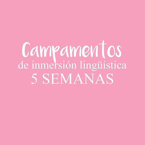 CAMPAMENTO de inmersión lingüística 5 SEMANAS