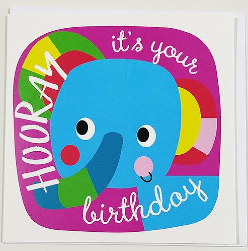 Tarjeta Felicitación Happy Birthday Little Creatures - Elephant