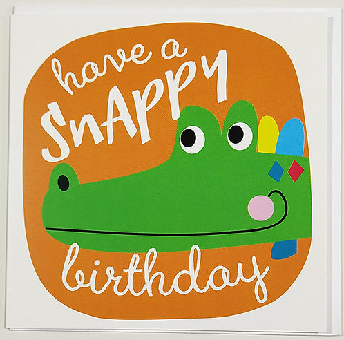 Tarjeta Felicitación Happy Birthday Little Creatures - Crocodile