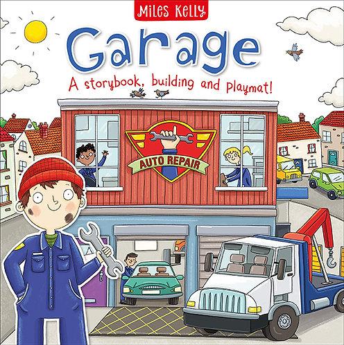GARAGE: A STORY BOOK, BUILDING AND PLAYMAT- Inglés