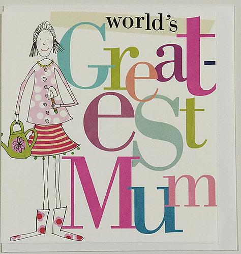 Tarjeta Felicitación Caroline Gardner - World's Greatest Mum