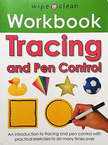 TRACING AND PEN CONTROL: WIPE AND CLEAN WORKBOOK- Inglés