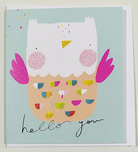 Mini Tarjeta Felicitación Rachel Ellen Designs - Owl
