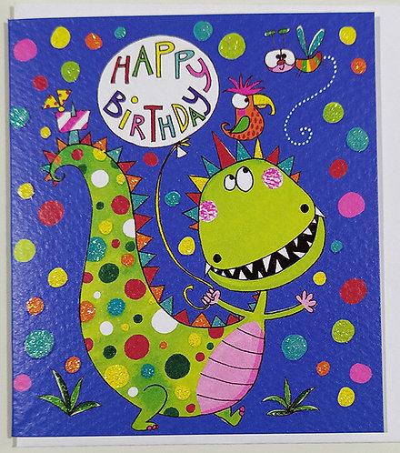 Mini Tarjeta Felicitación Rachel Ellen Designs - Dinosaur