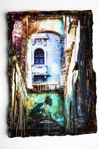 CUBA 1 Doorkijk blauw/groen 11/17