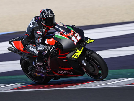 Viñales na MotoGP com a Aprilia