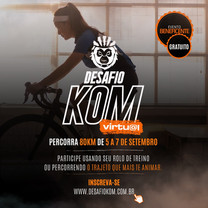 Desafio de KOM de ciclismo virtual gratuito