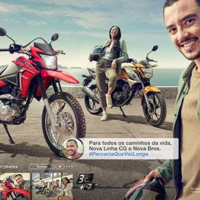Honda Motos une CG e Bros em nova campanha