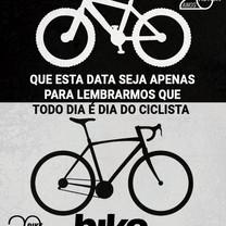 19 de Agosto, dia do ciclista. Que cada vez mais o ciclismo esteja em nossas vidas.