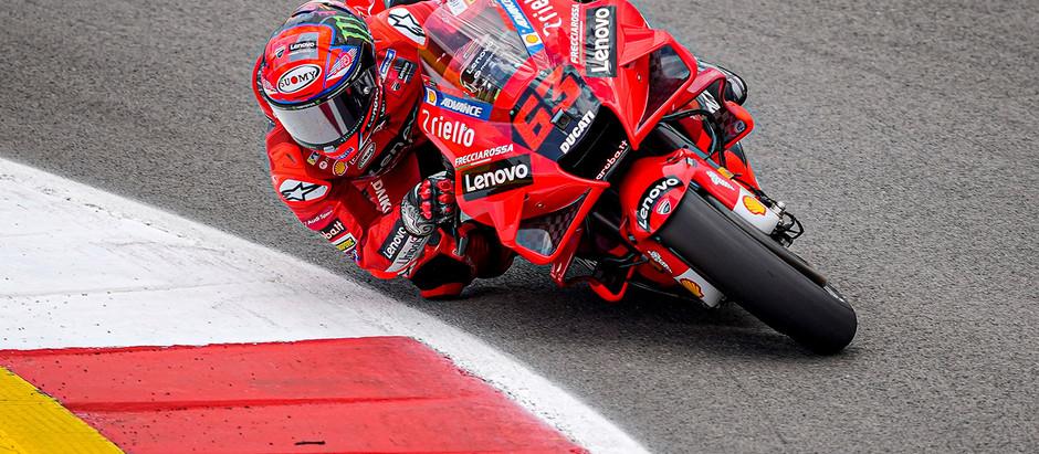 MotoGP = Bagnaia é o mais rápido nesta sexta-feira em Portugal