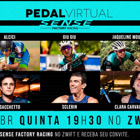 Sense Factory Racing prepara pedal virtual no Zwift