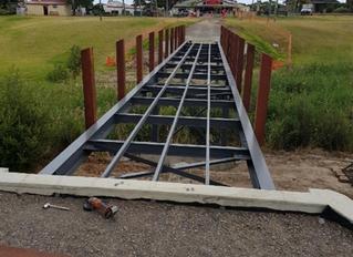 Construction of Memorial Park Bridge