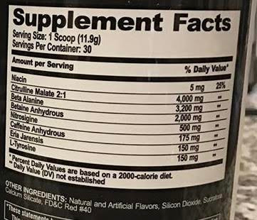 ethos ingredients label