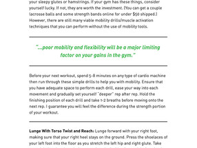 Mobility Drills for Strength Athletes