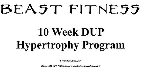 Program Review: Beast Fitness 10 Week DUP Hypertrophy Program