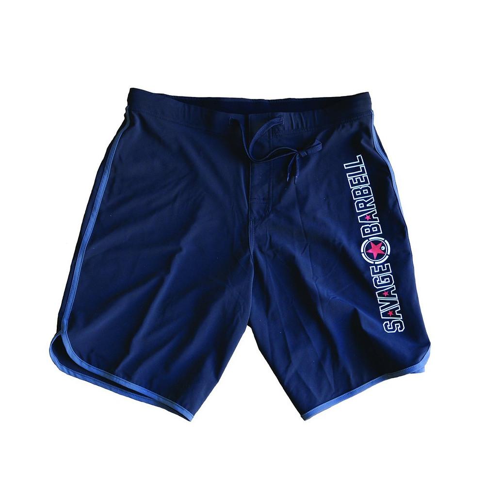 savage barbell gym shorts