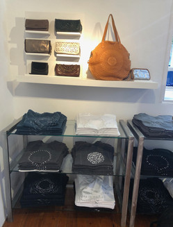 hand dyed tee shirt store in Fira Santorini Greece