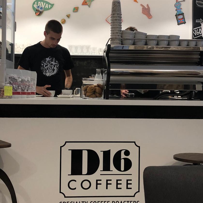 The barista at D16