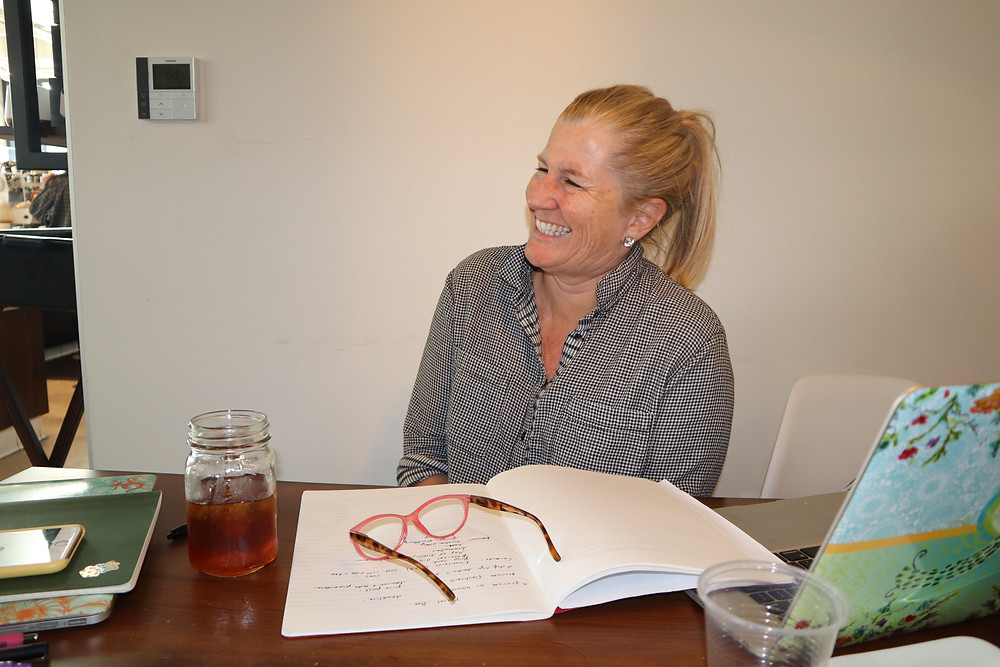 Siri Kay Jostad of Wander Away with Siri Kay at West Bean Coffee Roasters in Bankers Hill San Diego California