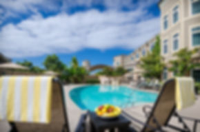 The outdoor pool at West Inn & Suites Carlsbad