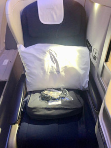 My Club World seat on arrival
