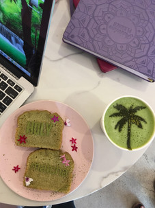 fancy food at Holy Matcha in San Diego California