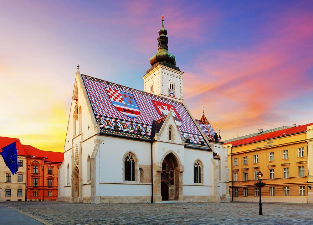 St. Marks Church and St. Marks Square Zagreb Croatia
