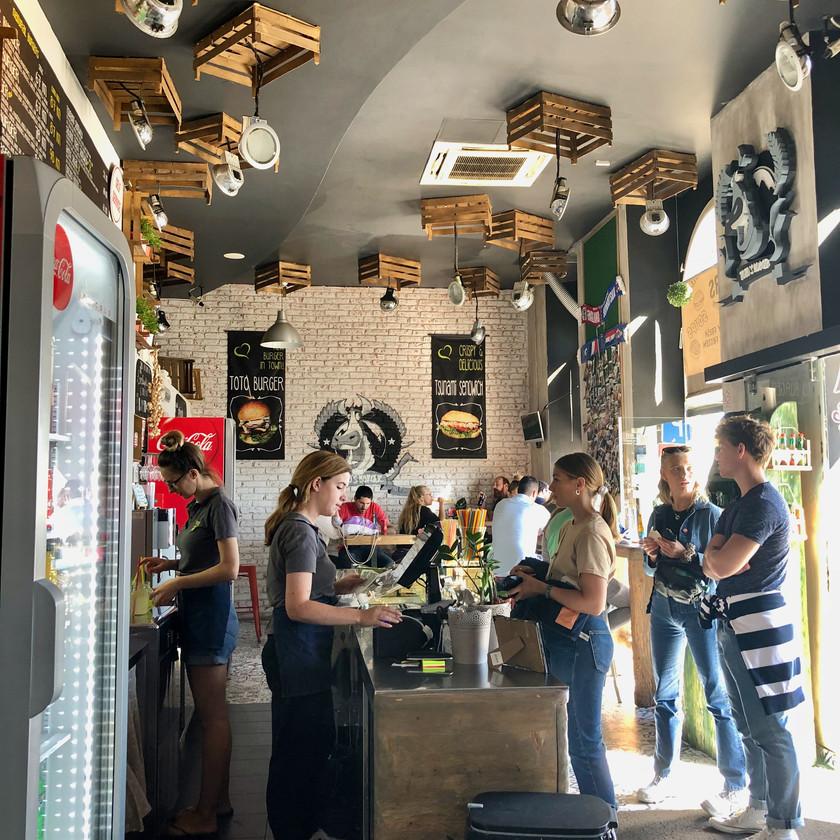 Order counter at Toto Burger
