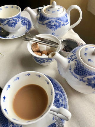 Our tea set up