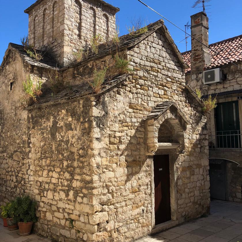 Little Stone church on Marjan HIll hike in Split Croatia