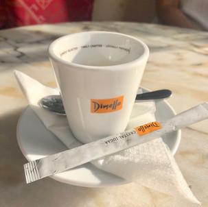 Espresso served at Meteor Cafe in Oia Santorini Greece