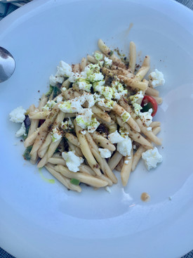 Homemade pasta at Roka Restaurant in Oia Santorini Greece