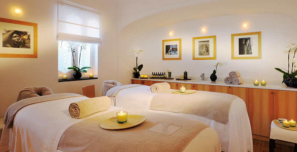 A couples room at the Le Sirenuse Hotel spa in Positano Italy