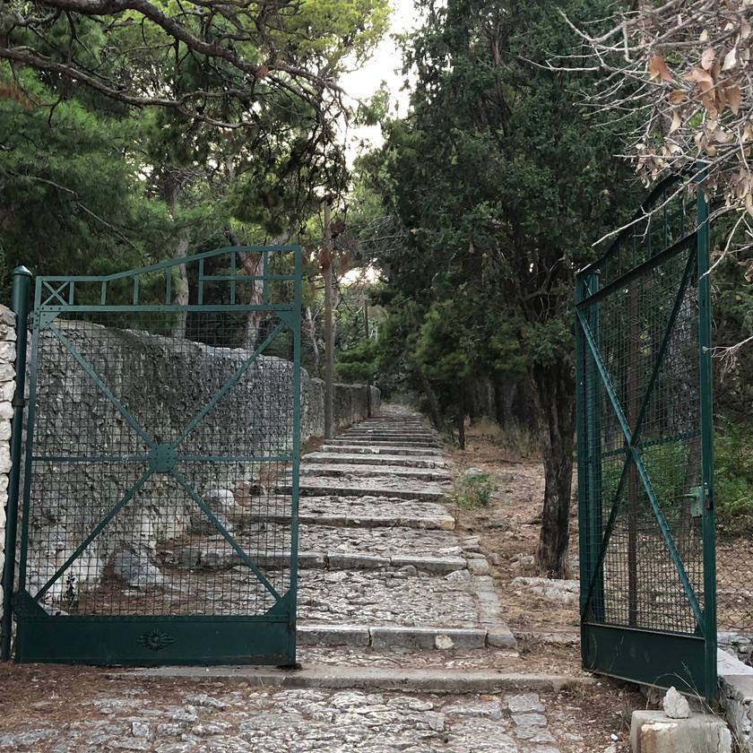 Gate to Marjan Hill hike