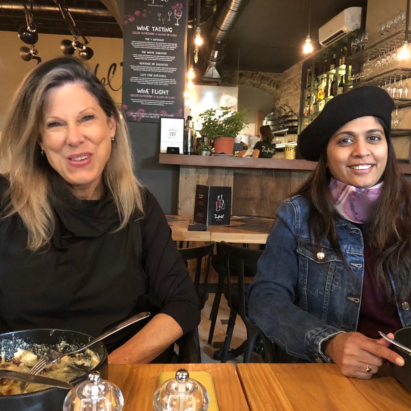 My friends Katie and Vaishali