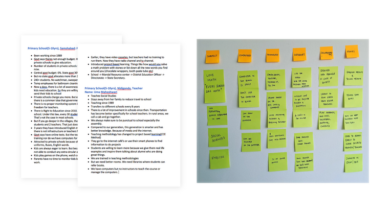 Research Notes and Affinity Mapping