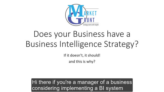Do you have a BI Strategy?