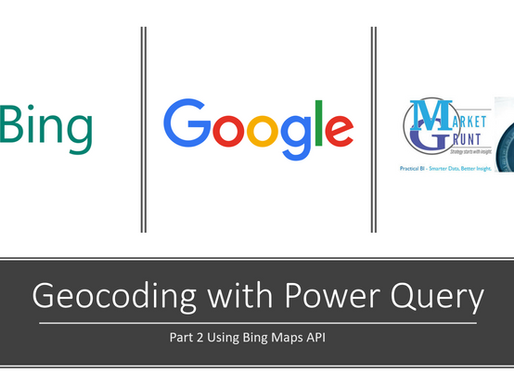 Using Power Query to Geocode an Address List with Bing Maps API