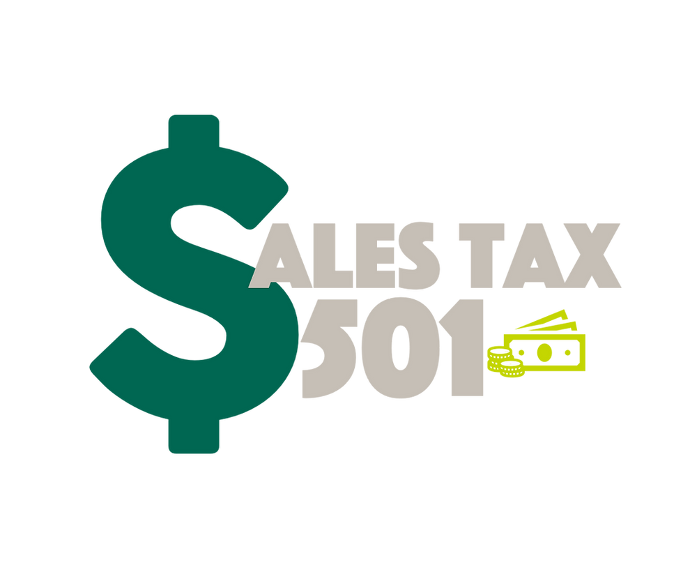 Illustration of money that says Sales Tax 501