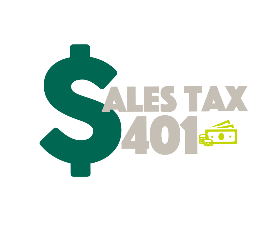 Illustration of dollar money that says Sales Tax 401