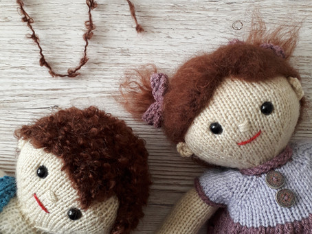 Lilly and May's adventures with Dolly Mohair Yarn