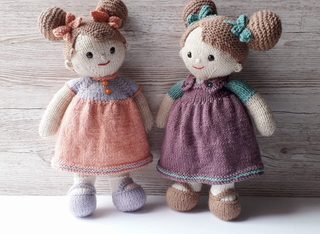 Introducing Lilly and May knitted dolls