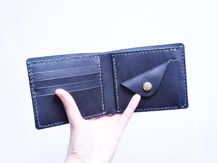 【好好縫】5咭位+散紙位 對摺銀包|皮革D.I.Y材料包
