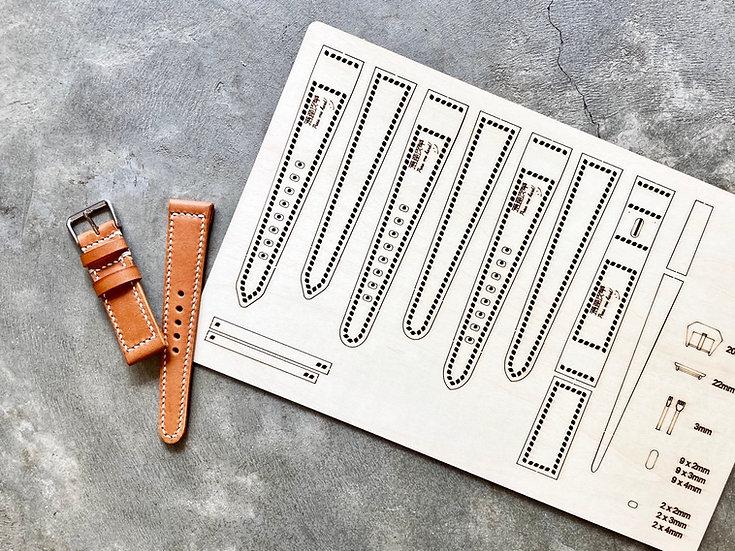 【包剪揼】22mm錶帶(共3款) 木板紙樣(適合Apple Watch 38/40mm適用)