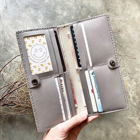 【好好縫】啪鈕橫身咭位長銀包|皮革D.I.Y材料包