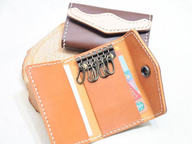 【好好縫】雙色鎖匙包|皮革D.I.Y材料包