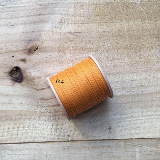 0.65mm 圓蠟線 No.614 橙黃色