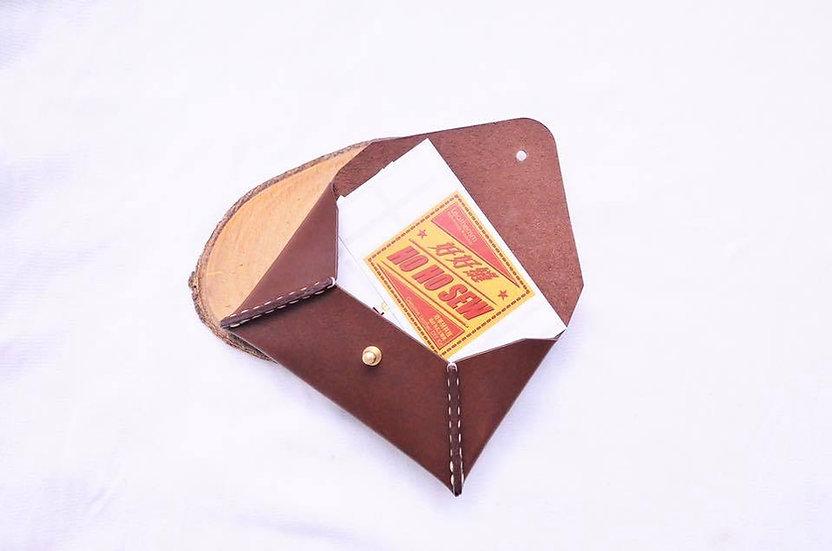 【好好縫】信封形咭片套|皮革D.I.Y材料包