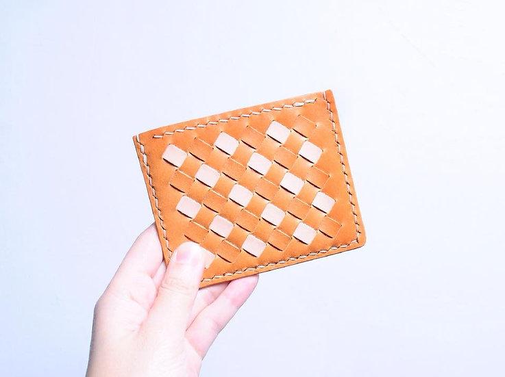 【好好縫】拼色織皮咭套 |皮革D.I.Y材料包