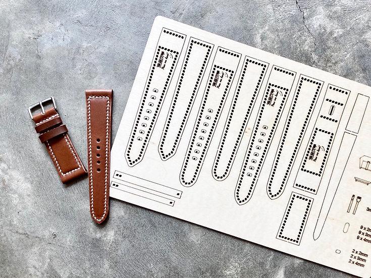 【包剪揼】24mm錶帶(共3款)|木板紙樣(適合Apple Watch 42/44mm適用)
